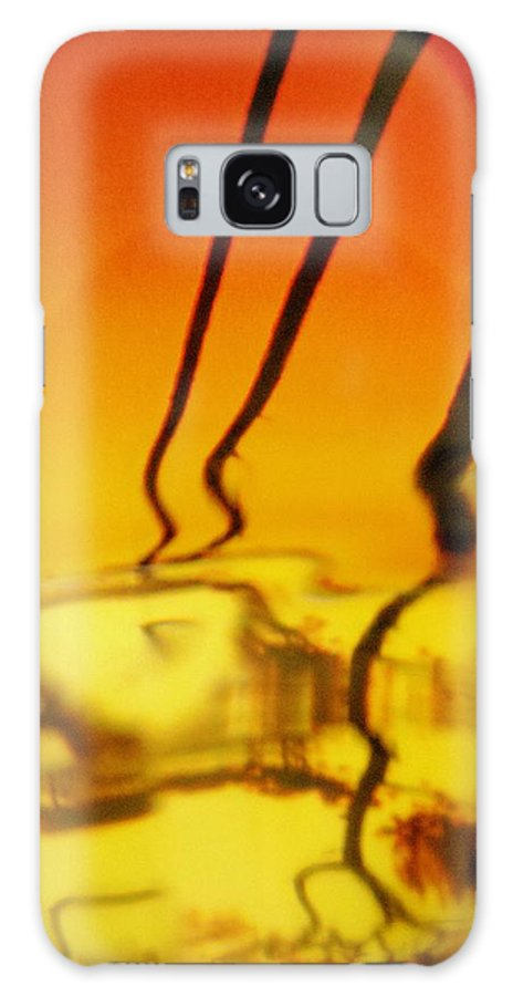 Yellow Galaxy S8 Case featuring the photograph Abstract 1728 by Stephanie Moore