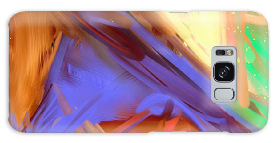 Abstract Galaxy S8 Case featuring the painting Abstract 4 by Snake Jagger
