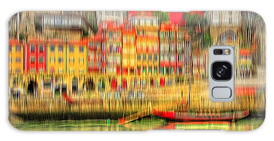 City Galaxy S8 Case featuring the digital art abstract Portuguese city Porto-4 by Joel Vieira