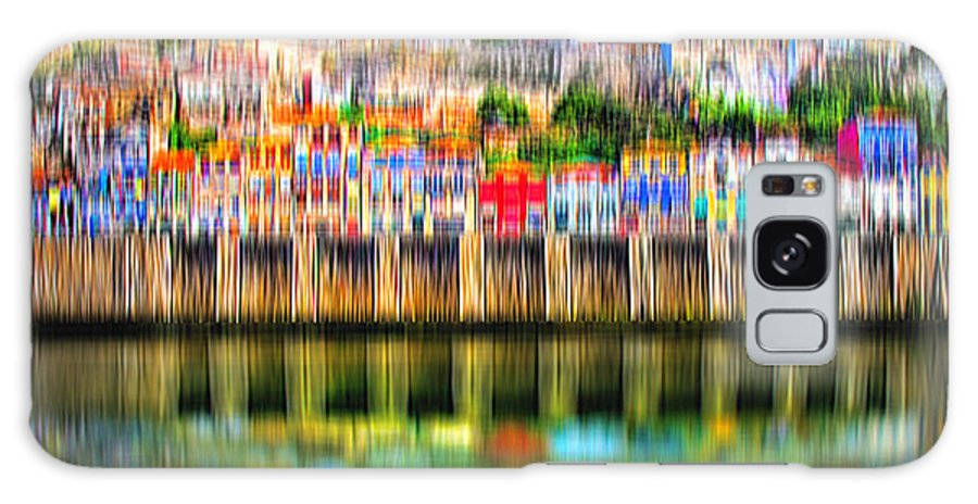 City Galaxy S8 Case featuring the digital art abstract Portuguese city Porto-5 by Joel Vieira