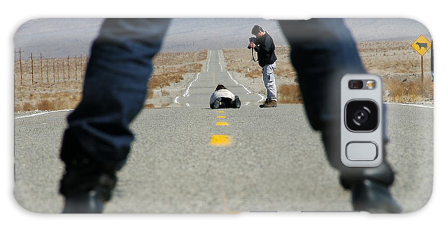 Man Galaxy S8 Case featuring the photograph Accident Scene Photographer by Anne Kitzman