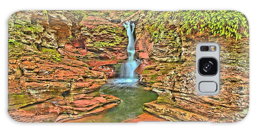 Ricketts Glen Galaxy S8 Case featuring the photograph Adams Falls by Adam Jewell