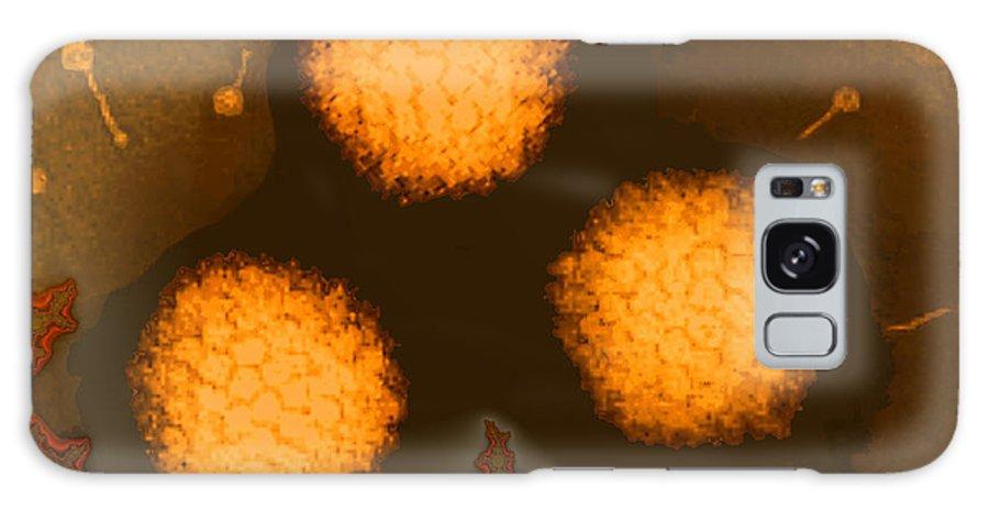 Adenoviruses Galaxy S8 Case featuring the photograph Adenoviruses by Dr Linda Stannard, Uct