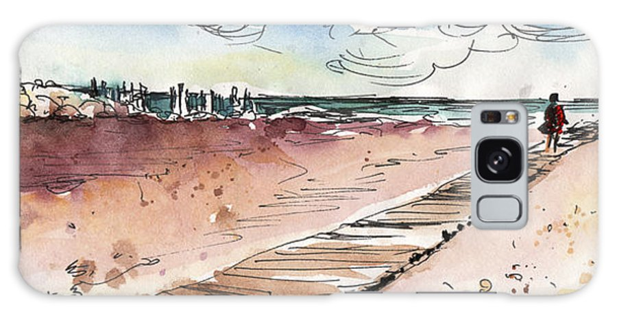 Travel Galaxy S8 Case featuring the painting Albufera De Valencia 01 by Miki De Goodaboom