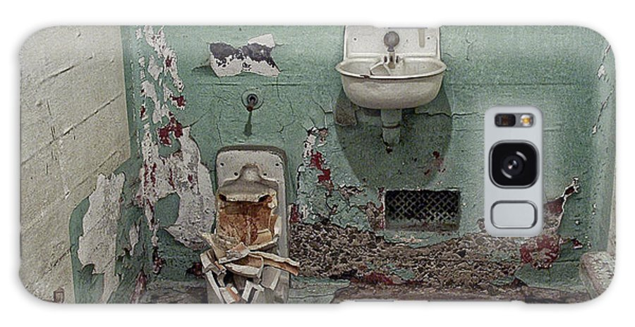 Alcatraz Galaxy S8 Case featuring the photograph Alcatraz Vandalized Cell by Daniel Hagerman