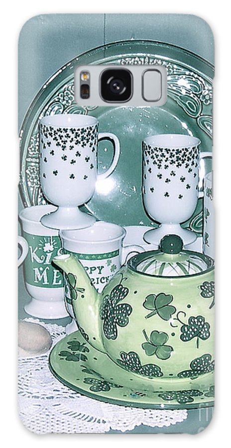 Shamrock Mugs Galaxy S8 Case featuring the photograph All Ready For March by Nancy Patterson