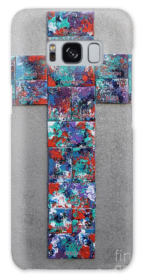 Galaxy S8 Case featuring the mixed media All Things Are Possible by Gwyn Newcombe