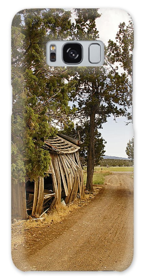 Almost Galaxy S8 Case featuring the photograph Almost A Pile Of Wood Barn Vertical by Mick Anderson