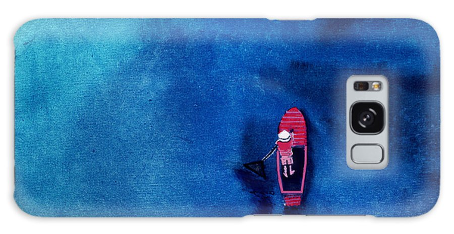 Boat Galaxy S8 Case featuring the painting Alone 1 by Anil Nene