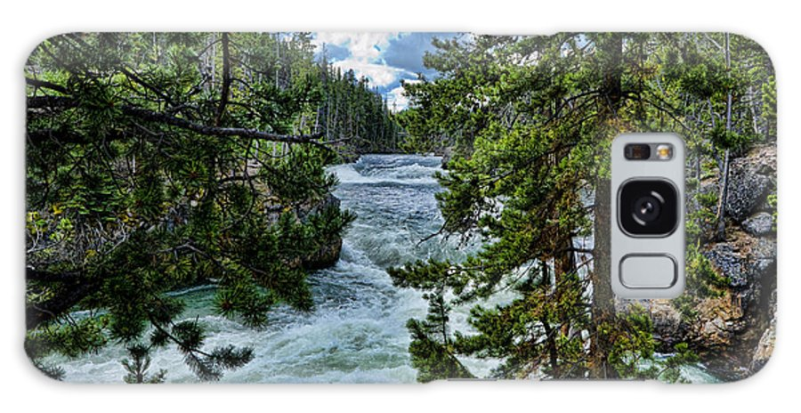 Yellowstone National Park Galaxy S8 Case featuring the photograph Along The River by Jon Berghoff