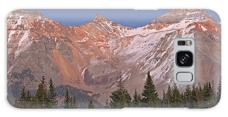 Alpenglow Galaxy S8 Case featuring the photograph Alpenglow San Juan Mountains by Dean Pennala