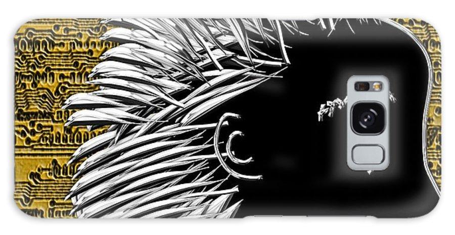 Al Galaxy S8 Case featuring the digital art Al's Bright Idea by Michael Hurwitz