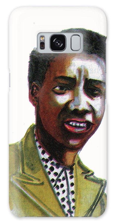 Portraits Galaxy S8 Case featuring the painting Althea Gibson by Emmanuel Baliyanga