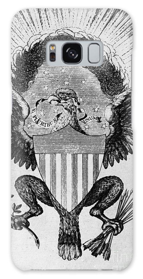 1786 Galaxy S8 Case featuring the photograph America: Coat Of Arms by Granger