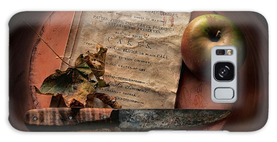 Apple. Cookbook Galaxy S8 Case featuring the photograph American Cookery 1790 by Robin-Lee Vieira