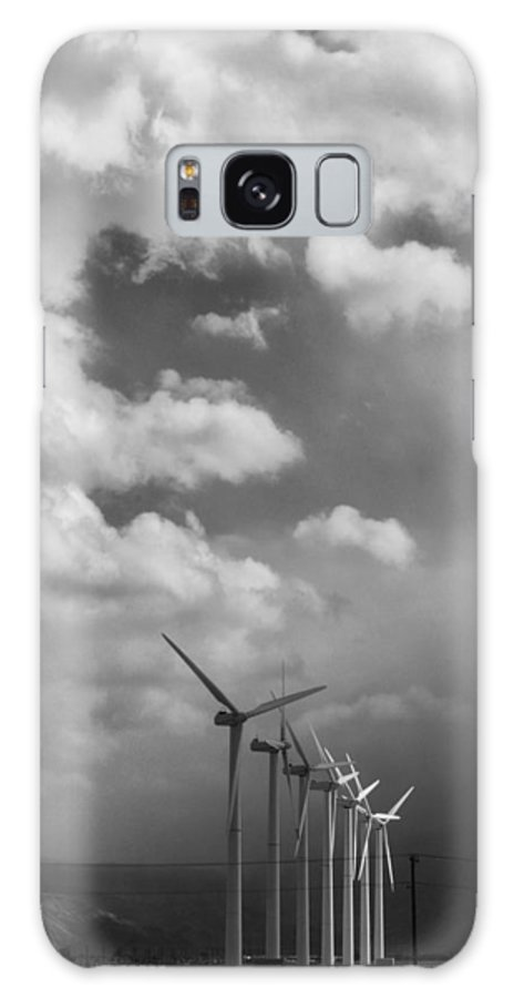 Windmills Galaxy S8 Case featuring the photograph Amongst The Clouds Bw by William Dey
