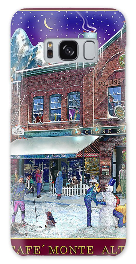 Prints Galaxy S8 Case featuring the photograph An Early Snow For Cafe Monte Alto by Nancy Griswold