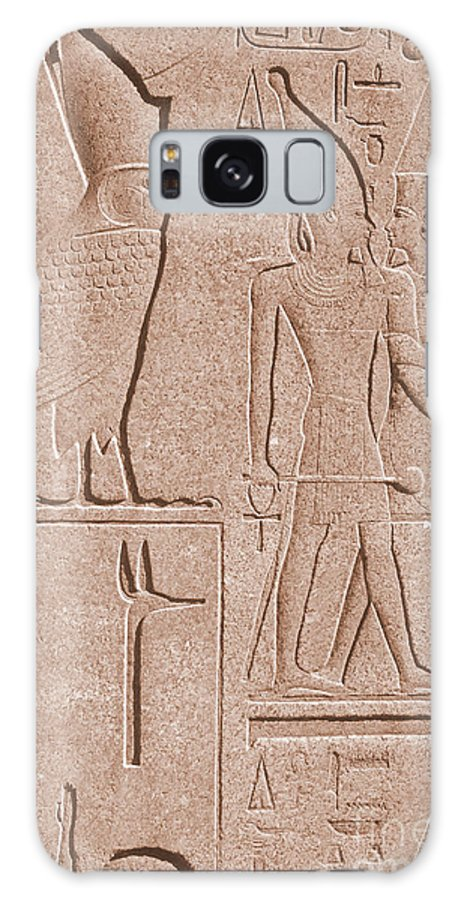 Historic Galaxy S8 Case featuring the photograph Ancient Stone Carvings, Karnak, Egypt by Photo Researchers, Inc.
