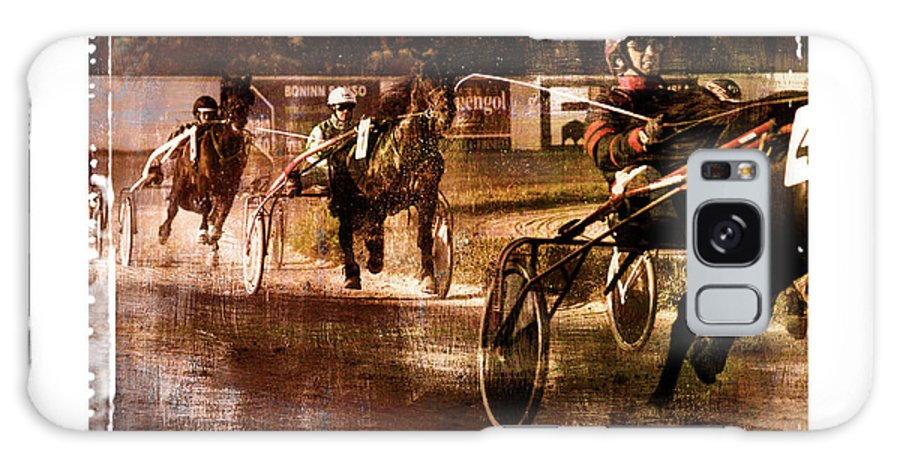 Horse Galaxy S8 Case featuring the photograph and the winner is - A vintage processed Menorca trotting race by Pedro Cardona Llambias