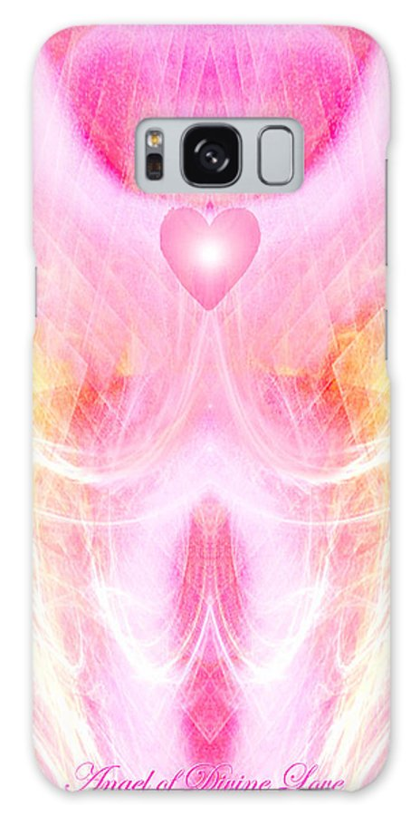 Angel Galaxy S8 Case featuring the digital art Angel Of Divine Love by Diana Haronis