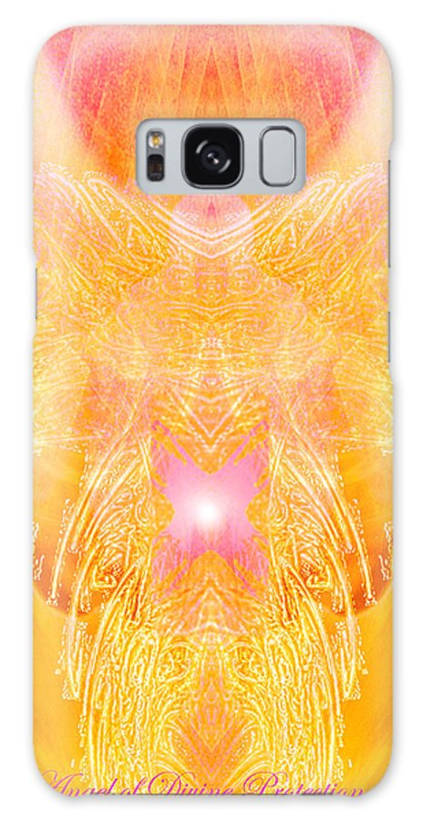 Angel Galaxy S8 Case featuring the digital art Angel Of Divine Protection by Diana Haronis