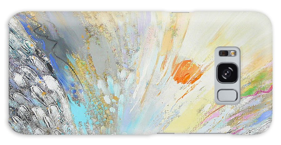 Abstract Galaxy S8 Case featuring the painting Angel's Presence 4 by Petia Papazova