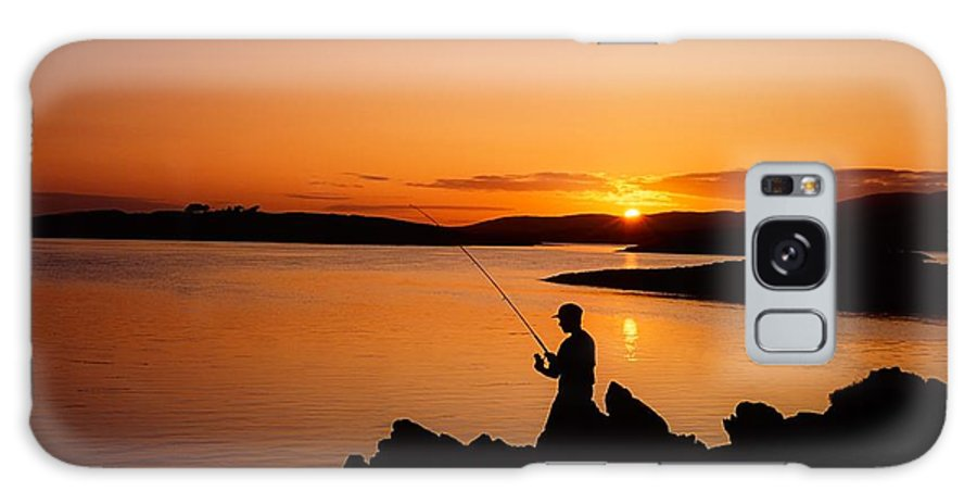 Activity Galaxy S8 Case featuring the photograph Angler At Sunset, Roaring Water Bay, Co by The Irish Image Collection