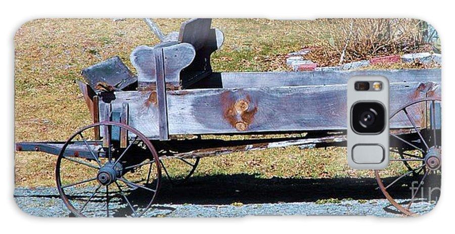 Antique Galaxy S8 Case featuring the photograph Antique Wagon by Susan Carella