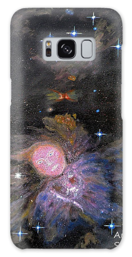 Augusta Stylianou Galaxy S8 Case featuring the painting Aphrodite In Orion's Nebula by Augusta Stylianou