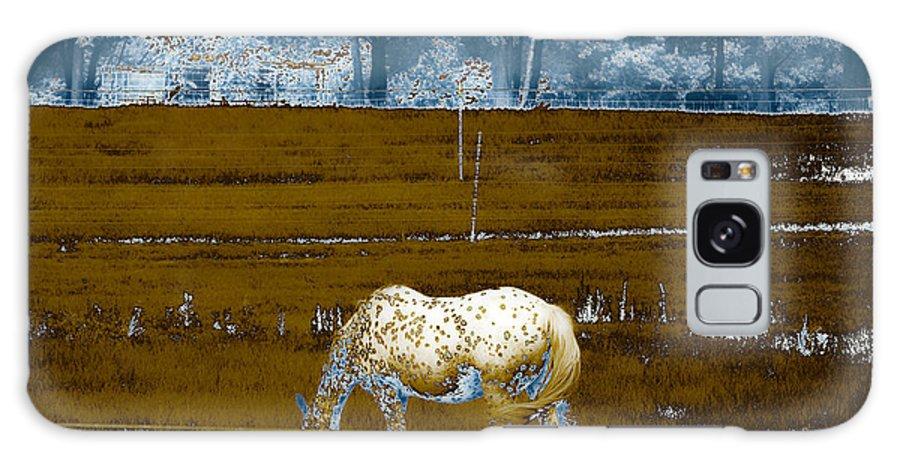 Appaloosa Galaxy S8 Case featuring the photograph Appaloosa Reverse by Paulette B Wright