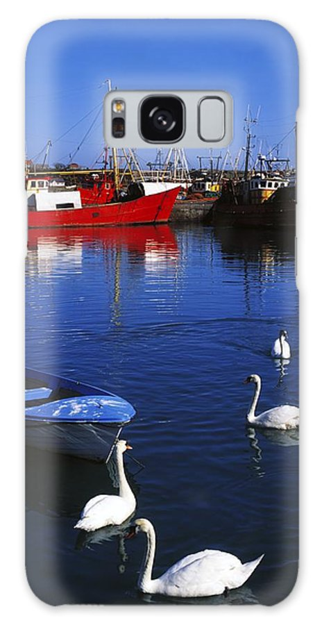 Ardglass Galaxy S8 Case featuring the photograph Ardglass, Co Down, Ireland Swans Near by The Irish Image Collection