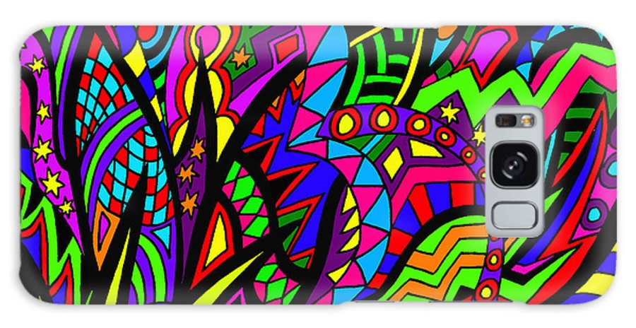 Abstract Art Galaxy S8 Case featuring the painting Arhhhhhhhhhhhhh by Karen Elzinga