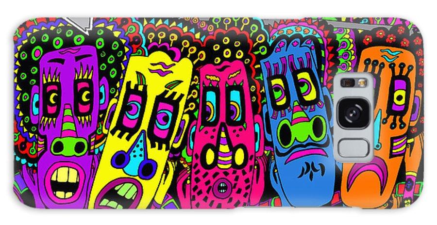 Life Galaxy S8 Case featuring the painting Arrow Head by Karen Elzinga