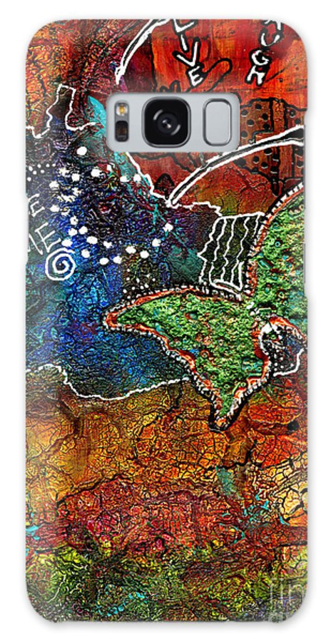 Journal Art Galaxy S8 Case featuring the mixed media Art Therapy by Angela L Walker