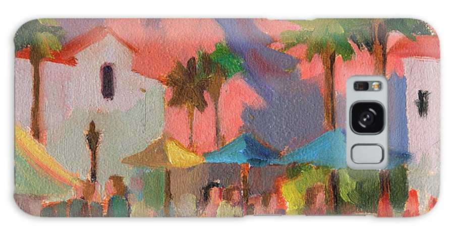 Festival Galaxy S8 Case featuring the painting Art Under The Umbrellas by Diane McClary