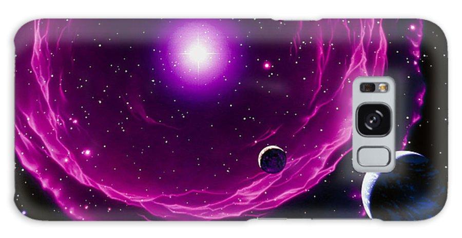 Sun Galaxy S8 Case featuring the photograph Artwork Of A Future Sun Ejecting Planetary Nebula by Joe Tucciarone
