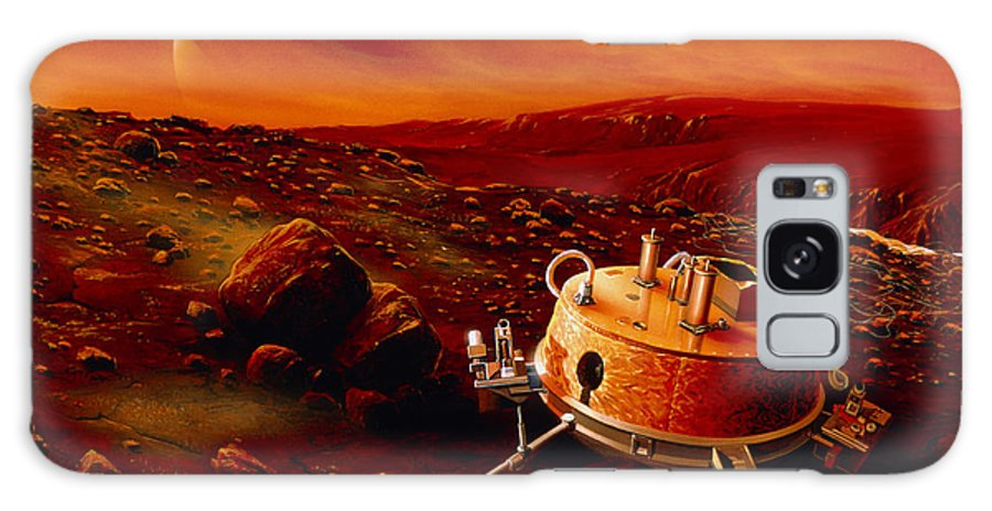 Huygens Probe Galaxy S8 Case featuring the photograph Artwork Of Huygens Probe On The Surface Of Titan by Detlev Van Ravenswaay