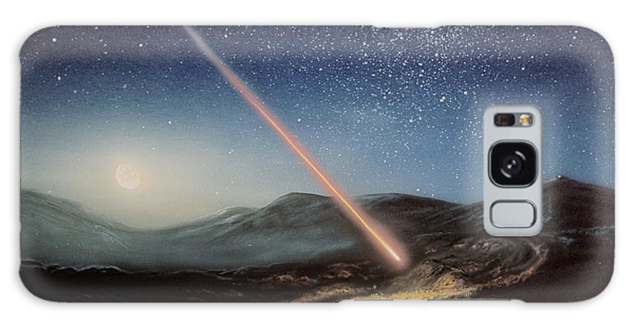 Earth Collision Galaxy S8 Case featuring the photograph Artwork Of Meteorite Hitting The Ground by Chris Butler