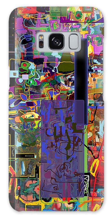 Abstract Galaxy S8 Case featuring the digital art Stirrings Of Emunah Six by David Baruch Wolk