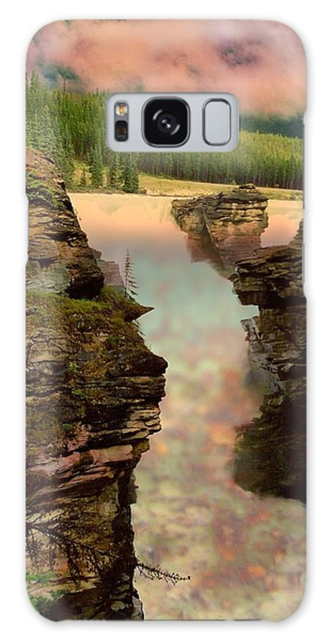Scenery Galaxy S8 Case featuring the photograph Athabasca Falls Evening by Shirley Sirois