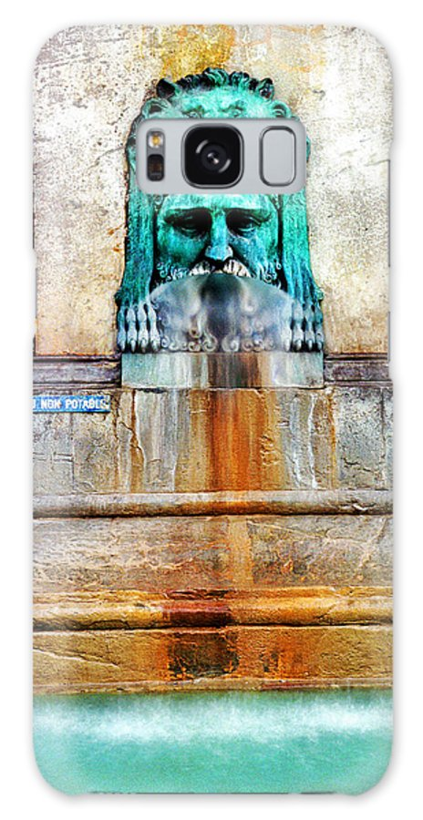Fountain Galaxy S8 Case featuring the photograph Au Non Potable A Fountain In Arles by Greg Matchick