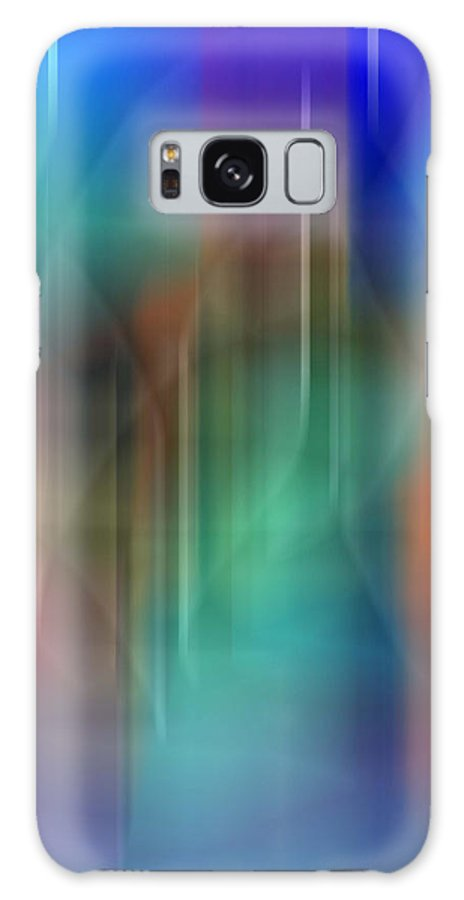 Abstract Expressionism Galaxy S8 Case featuring the digital art Aurora Borealis Xxii by John Neumann
