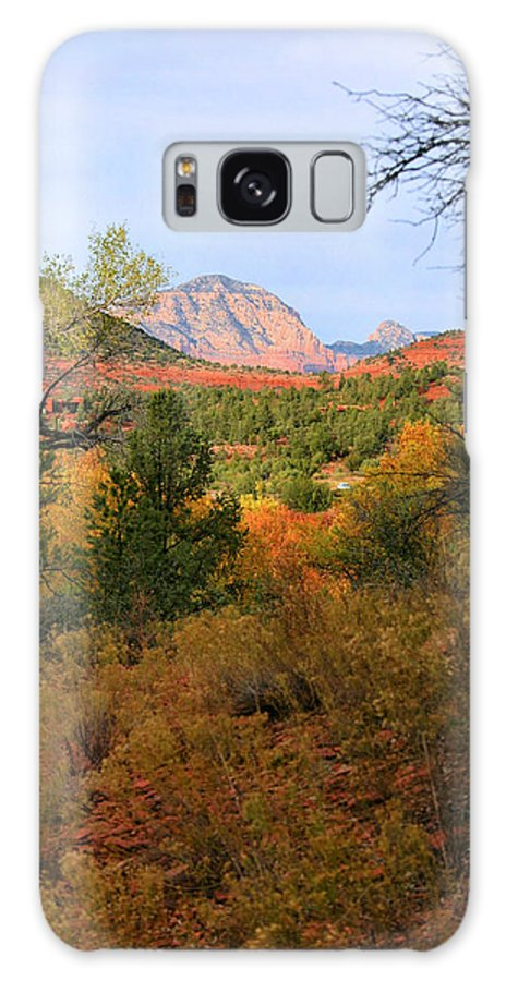 Red Rock Galaxy S8 Case featuring the photograph Autumn In Red Rock Canyon by Kristin Elmquist