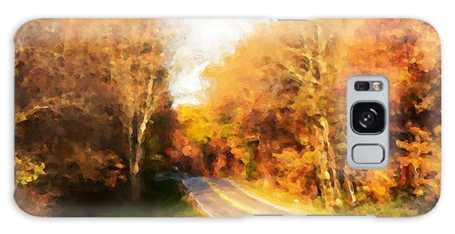 Autumn Road Galaxy S8 Case featuring the photograph Autumn Road by David Bearden