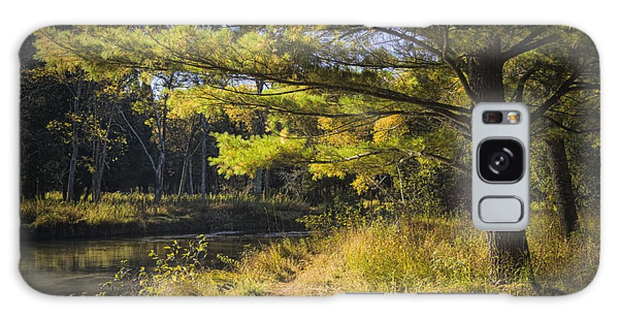 Art Galaxy S8 Case featuring the photograph Autumn Scene Of The Little Manistee River In Michigan No. 0882 by Randall Nyhof