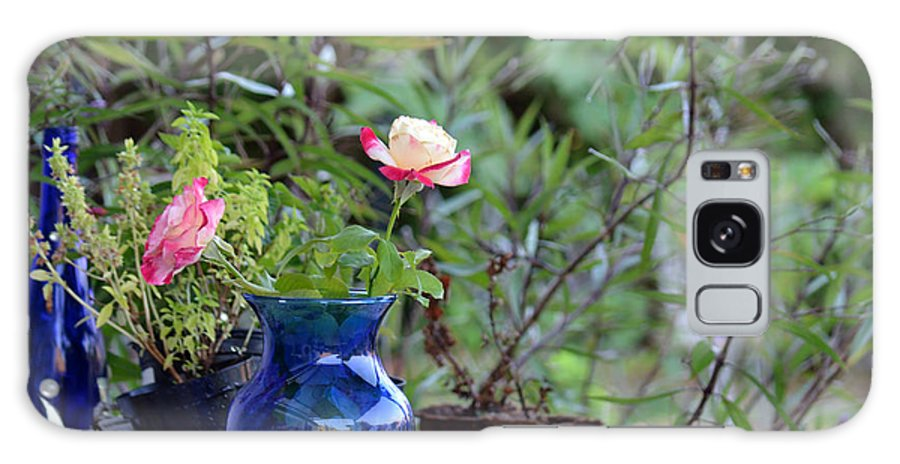 Garden Galaxy S8 Case featuring the photograph Back Yard Roses by Charles Bacon Jr