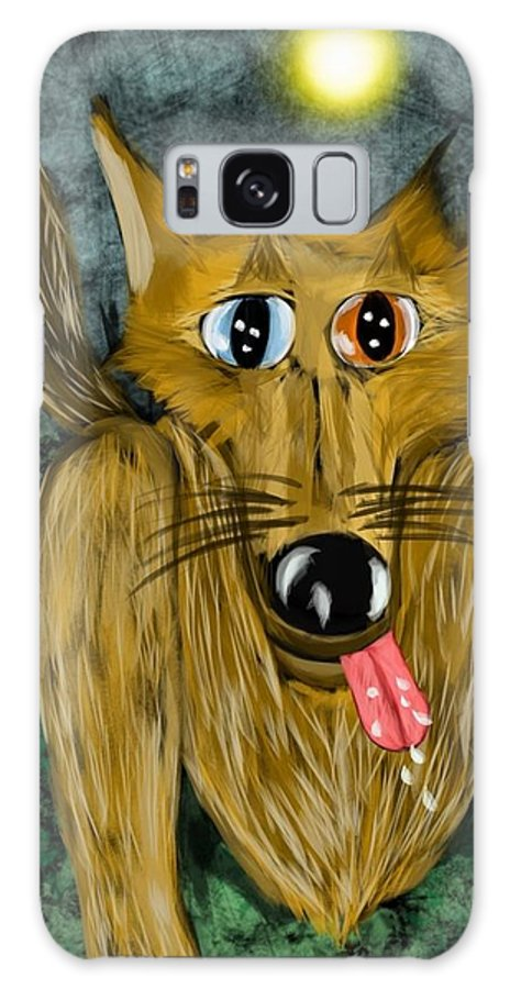 Galaxy S8 Case featuring the digital art Bad Wolf by Mathieu Lalonde