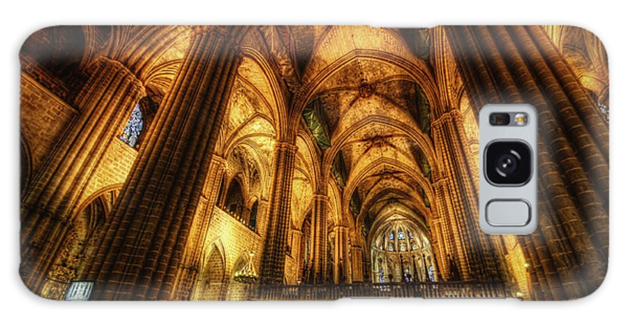 Yhun Suarez Galaxy S8 Case featuring the photograph Barcelona Cathedral by Yhun Suarez