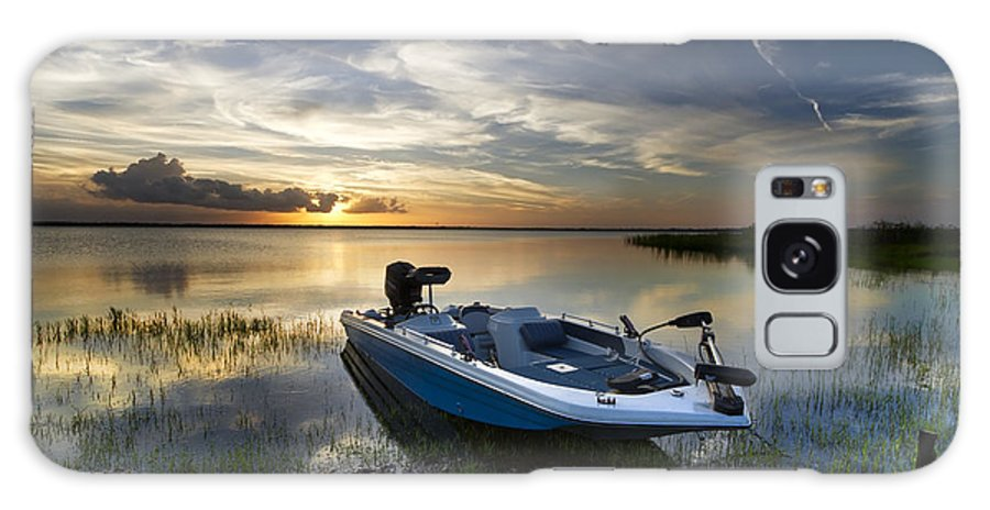 Boats Galaxy S8 Case featuring the photograph Bass Fishin' Evening by Debra and Dave Vanderlaan