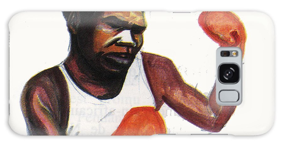 Portraits Galaxy S8 Case featuring the painting Battling Siki by Emmanuel Baliyanga